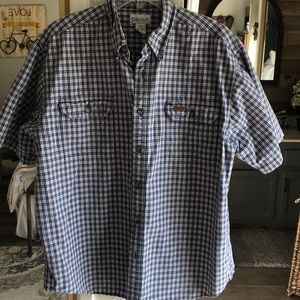 Carhartt mens short sleeve button down. XL